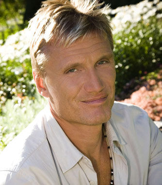 press photo from sr.se of Dolph Lundgren's stint on Swedish Radio