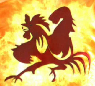 the cockerel logo from Steven Seagal's mock film 'Cockpuncher'