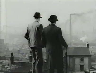A still from the historic propaganda film on urban reform in industrial Britain.