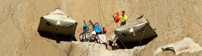 Setting up camp on El Capitan