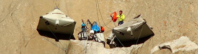 Setting up camp on El Capitan