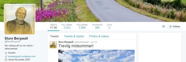 Sture Bergwall on Twitter